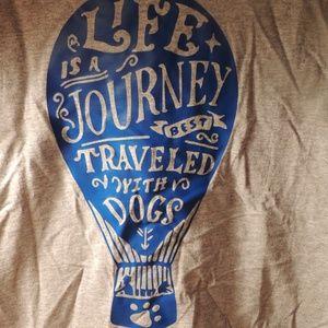 Jerzees large dog lovers tee shirt